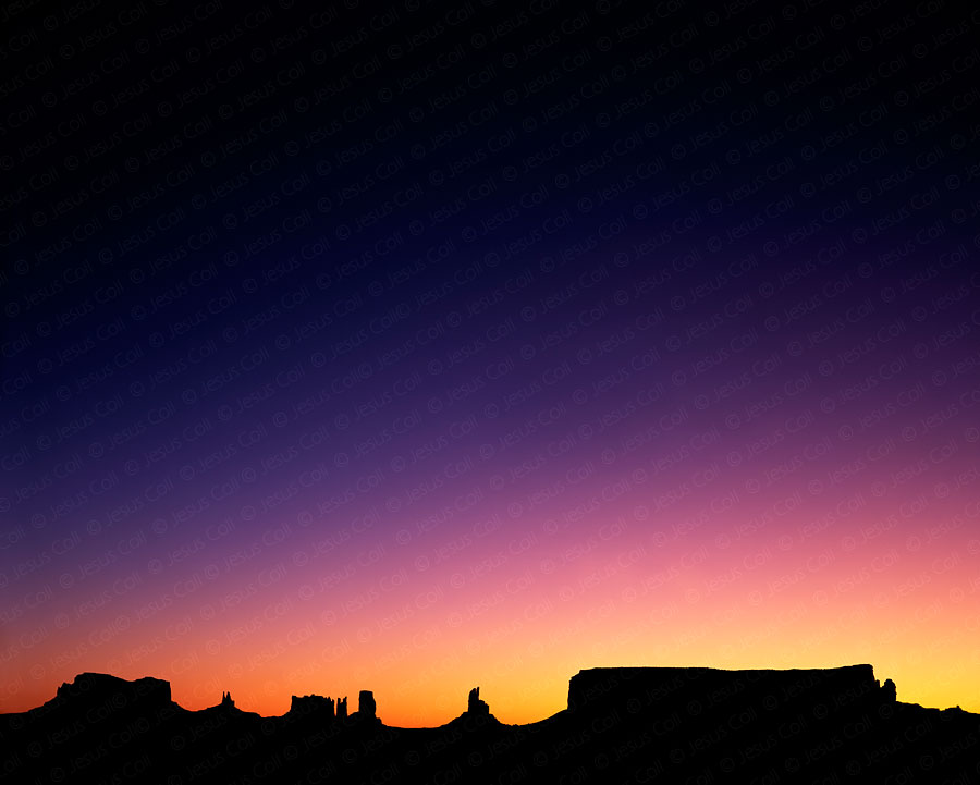 Monuments at Dawn, Monument Valley, Utah. Fine Art Natural Landscape color Photography © Jesus Coll
