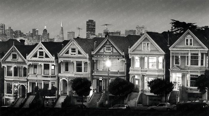 San Francisco at Dusk, California, USA. Urban Fine Art Urban Black and White Photography by Jesus Coll