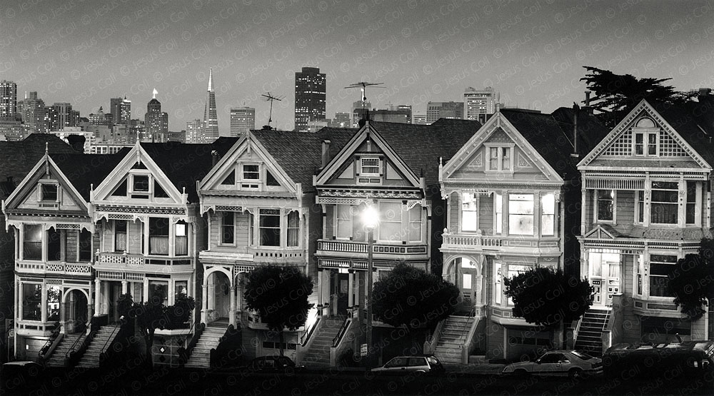 San Francisco at Dusk, California, USA. Urban Fine Art Urban Black and White Photography by Jesus Coll