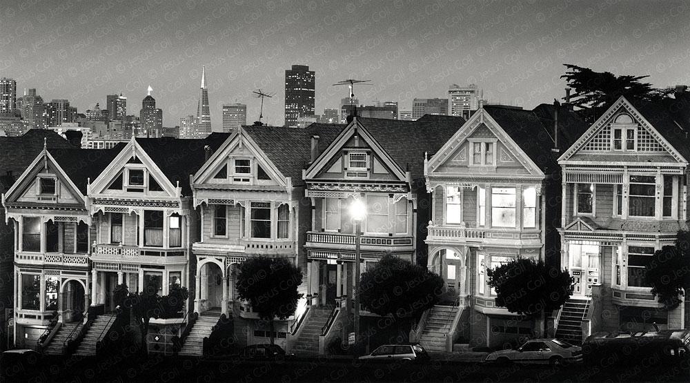 San Francisco at Dusk, California, USA. Fotografía Fine Art de Paisaje Urbano en Blanco y Negro de Jesús Coll