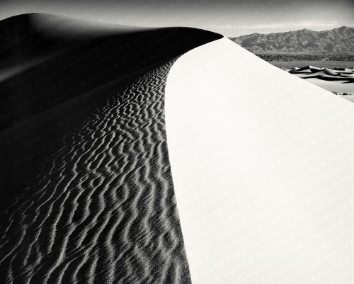 Sand Dunes Sunrise, Death Valley, California, USA. Nature & Landscapes Fine Art B&W Photography by Jesus Coll