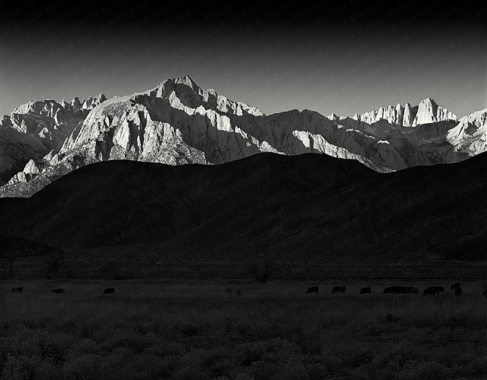 Lone Pine Peak at Dawn fine art giclee photograph by Jesus Coll