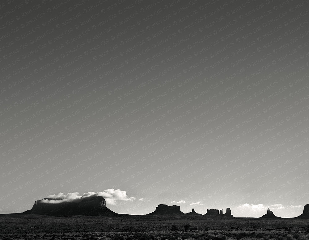 Mittens Early Noon, Utah, USA. Fine Art Landscapes Black and White Photography de Jesus Coll