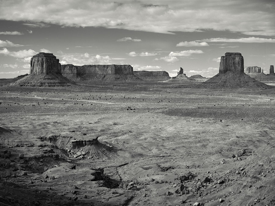 Monument Valley from Artist Point, Utah, USA. Fine Art Natural Landscape Black and White Photography by Jesus Coll