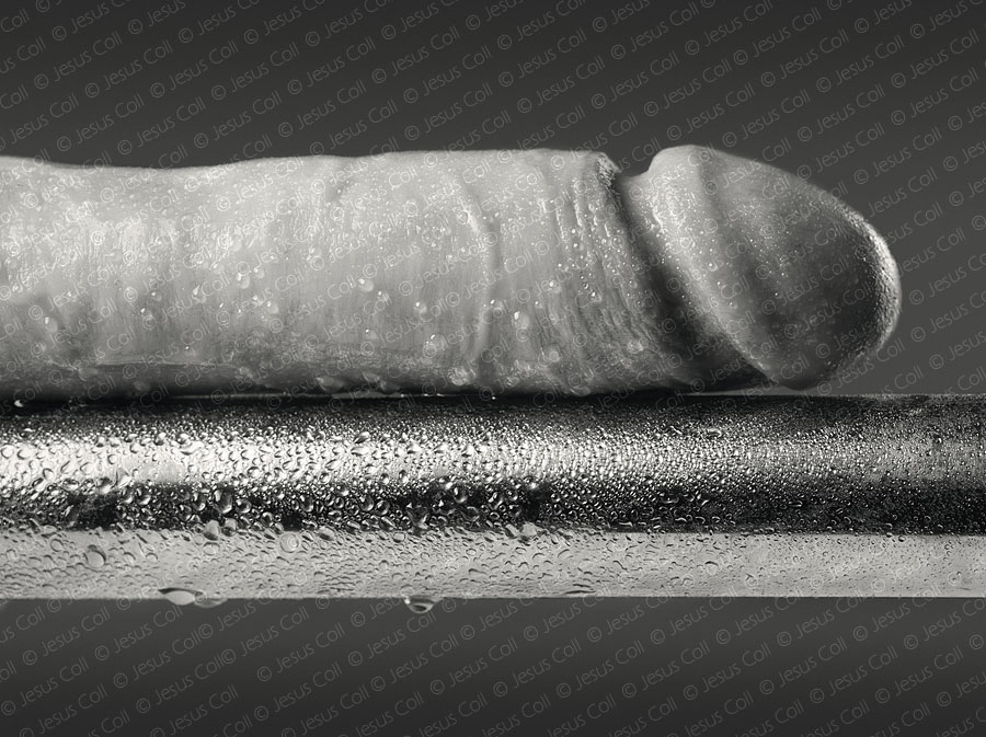 Penis and Steel Bar. Erotic FineArt Photography by Jesus Coll