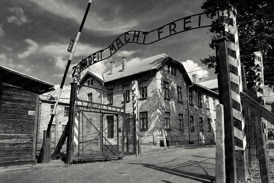 Auschwitz Main Entrance. Oswiecim, Poland by Jesus Coll