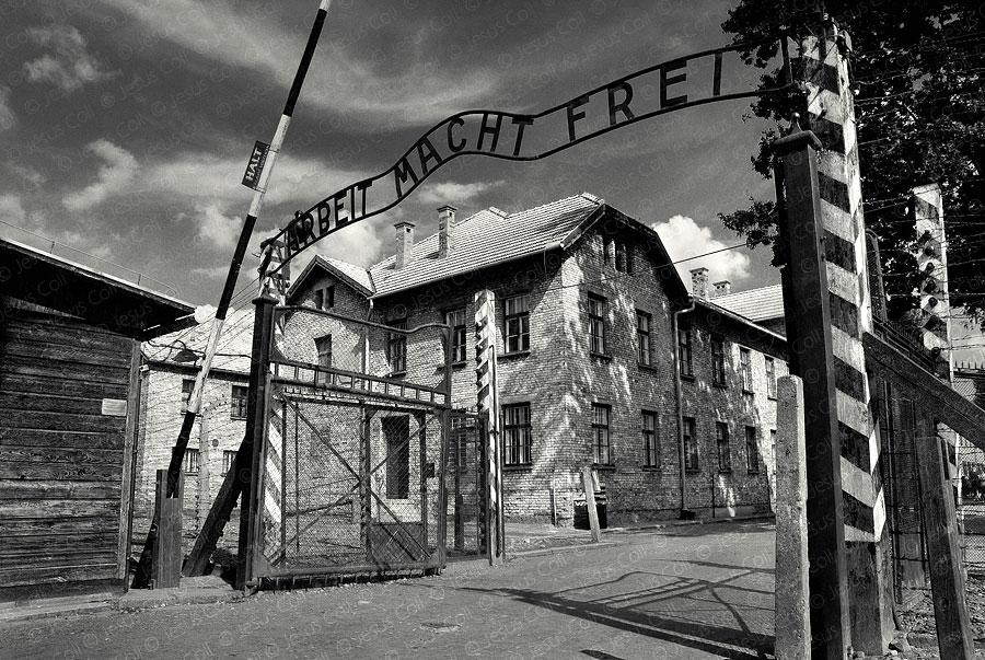 Auschwitz Main Entrance. Oswiecim, Poland by Jesus Coll