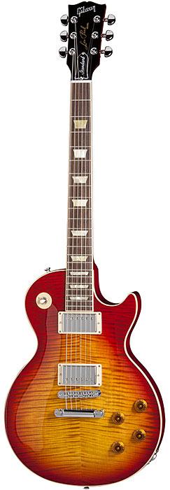 Gibson Les Paul Standard Sunburst, con fonocaptor de bobinado doble o humbucker.