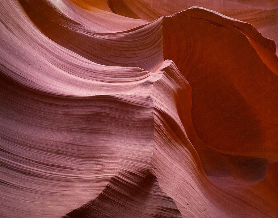 Pink Waves, Lower Antelope Canyon, Arizona, USA. Fine Art Landscape Color Photography by Jesus Coll