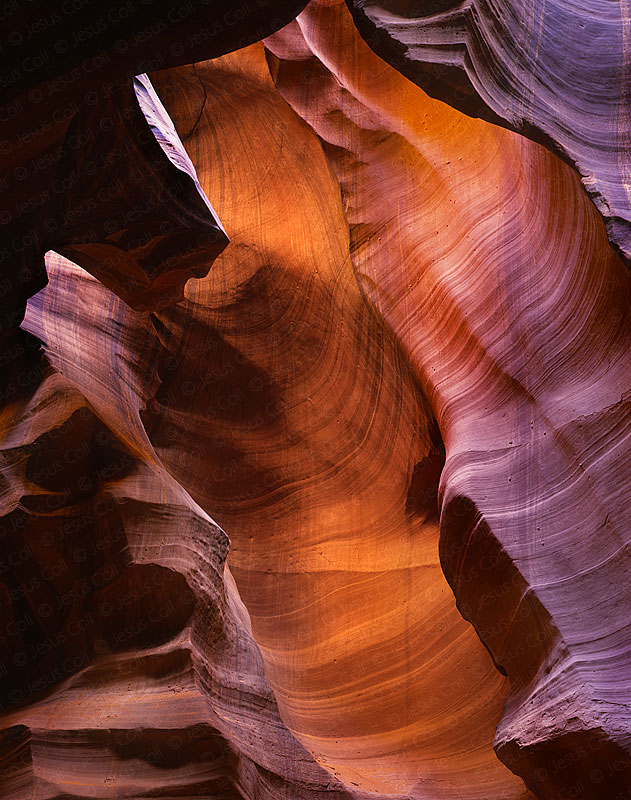 The Waterfall, Middle Antelope Canyon, USA. Color Fine Art Photography by Jesus Collf