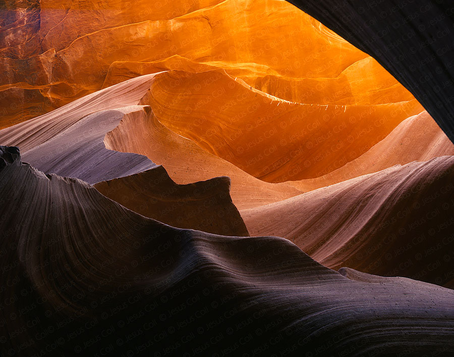 The Wave, Lower Antelope Canyon, Arizona, USA. Fine Art Paisaje color de Jesús Coll