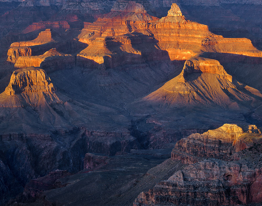 Grand Canyon, Sunset, Arizona, USA. Fine Art color Landscape Photography by Jesus Coll