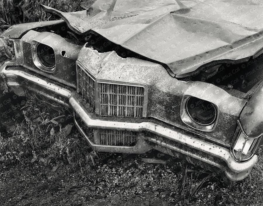 Blasted Car, Mount Saint Helens, Washignton, USA. Fotografía Fine Art en Blanco y Negro de Jesus Coll