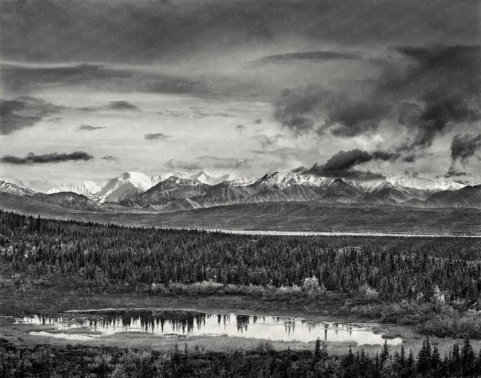 Storm on the Range, Denali Nat'l. Park, Alaska, USA. Landscapes Fine Art Black and White Photography by Jesus Coll