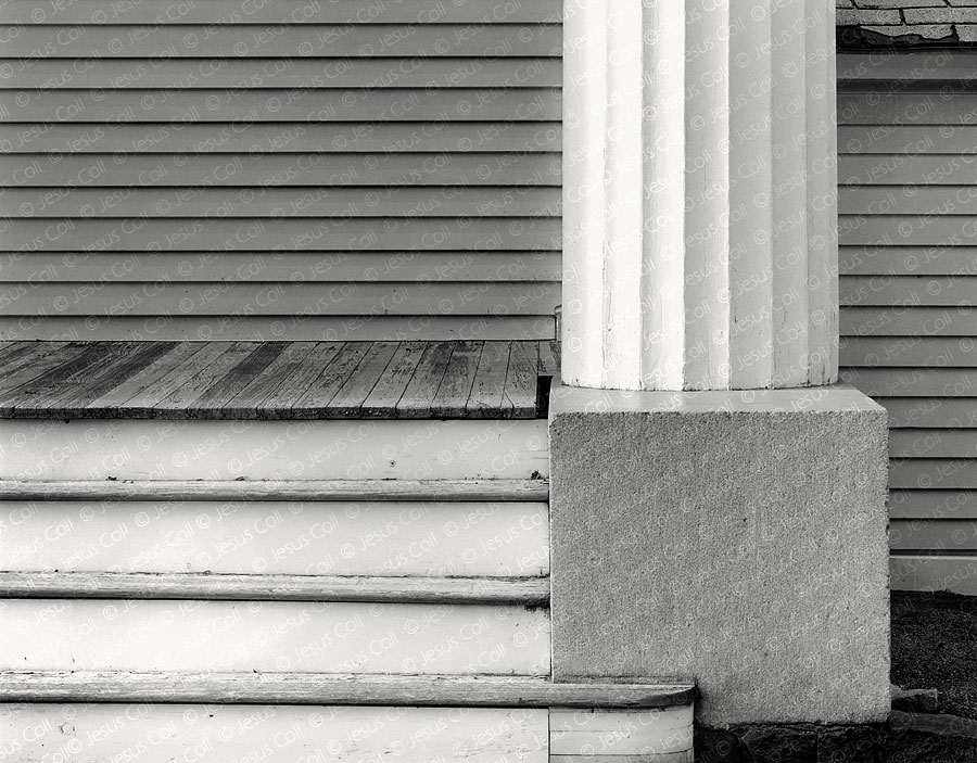 White Pillar, Mystic, Connecticut, USA. Fine Art Urban Photography by Jesus Coll