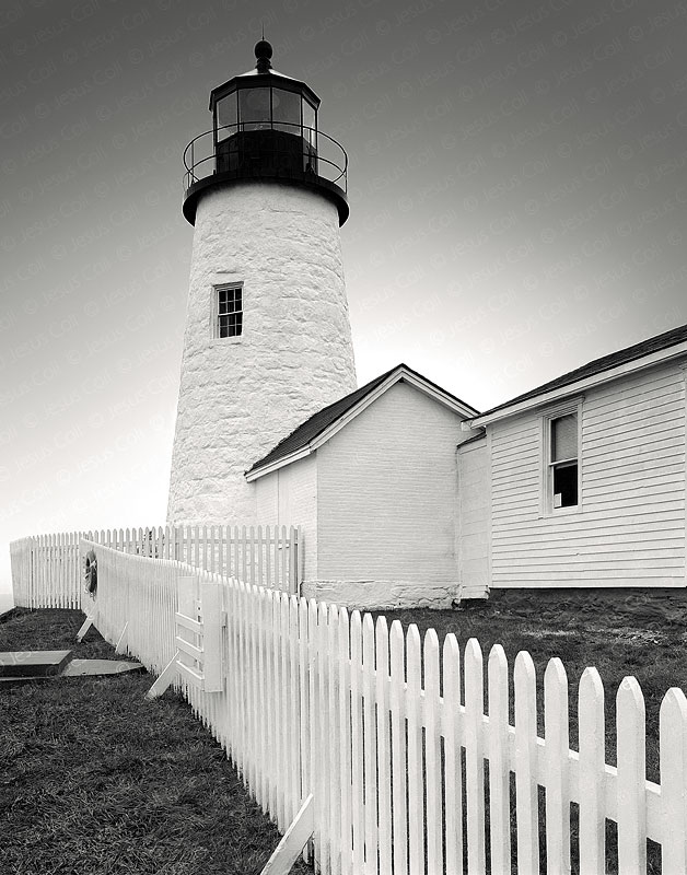 Lighthouse Pemaquid Point, Maine, USA. Fine Art Urban Landscapes Black and White Photography by Jesus Coll