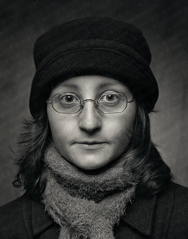 Queralt con sombrero. Fotografía Fine Art en Blanco y Negro de Jesús Coll