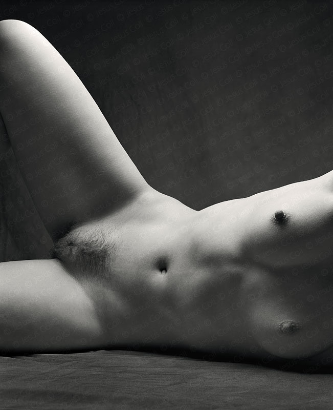Open Legs Torso. Fine Art Artistic Nudes Black and White Photography by Jesus Coll