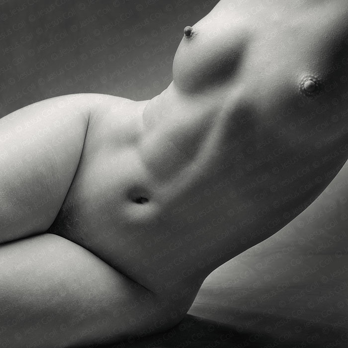Pear Nude. Fine Art Black and White Artistic Nude Photography by Jesus Coll
