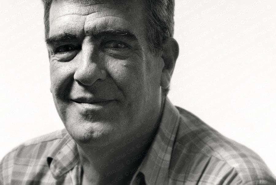 Josep Martí. Fotografía de Retrato Fine Art en Blanco y Negro de Jesús Coll