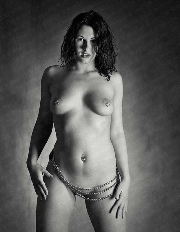 Metal on Skin. Fine Art Nude Black and White Photography by Jesus Coll