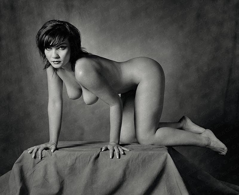 Feline I. Fotografía Fine Art de Desnudo Artístico en Blanco y Negro de Jesús Coll