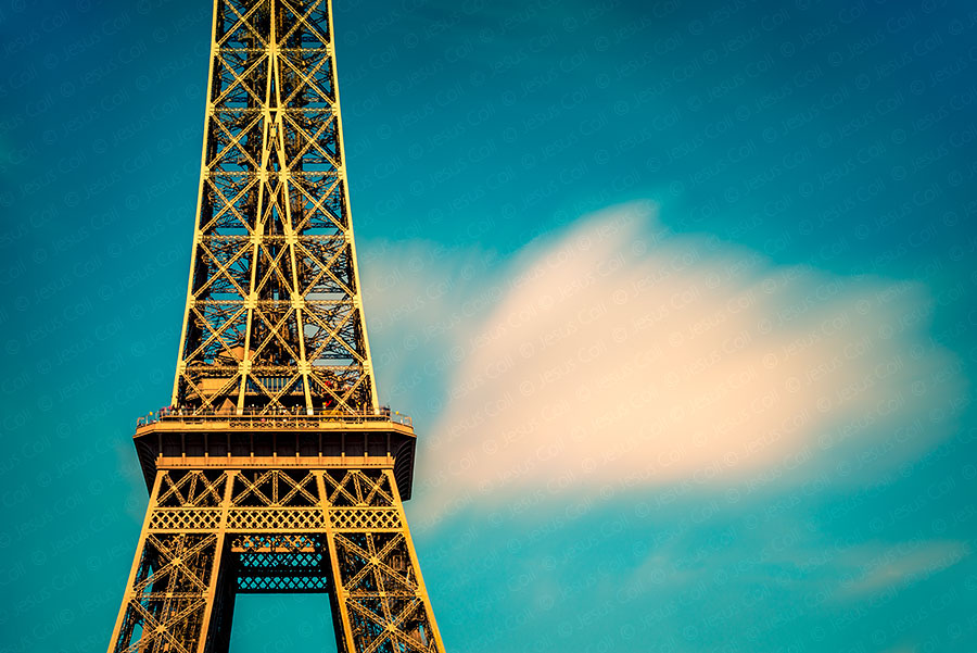 Eiffel Cloud, Paris, France. Fine Art Color Photography by Jesus Coll