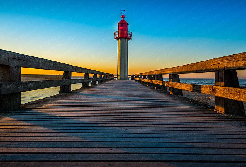 Sunset Lighthouse,Trouville Sur Mer, Normandy, France. FineArt landscapes photopgraphy de Jesus Coll