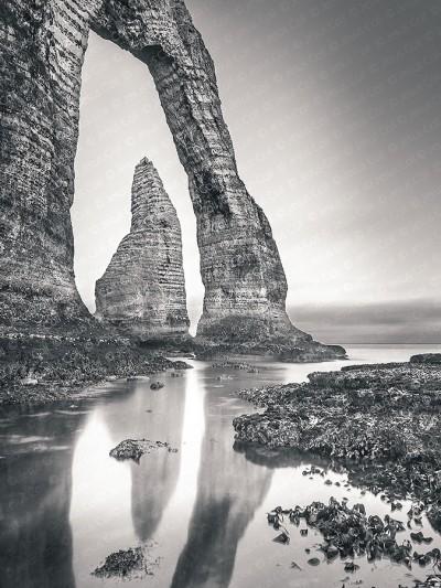 Acantilado, Étretat, Normandía, Francia