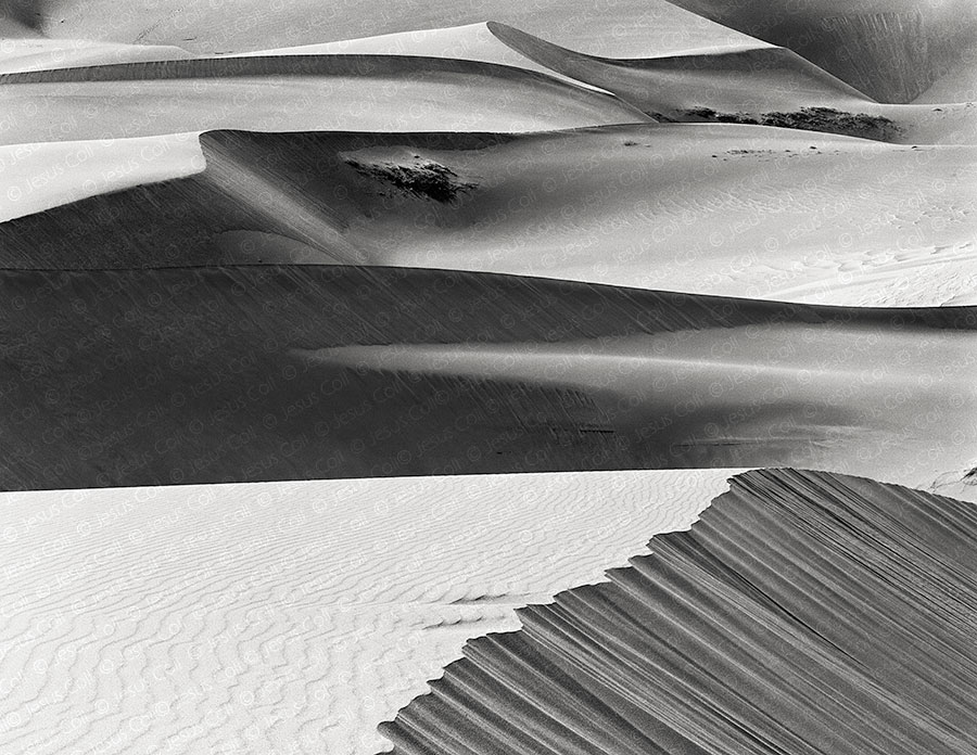 Dunes at Afternoon, Great Sand Dunes Nat'l Mnt., Colorado, USA. Fotografía Fine Art de Paisaje Blanco y Negro de Jesús Coll
