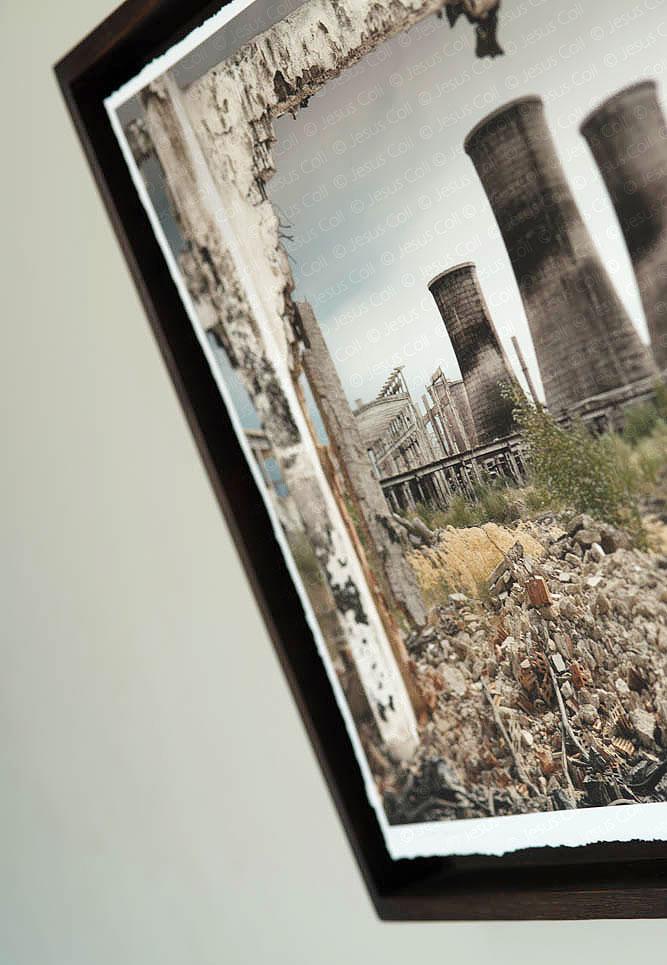 """Detalle """"Fòssils"""" Tríptico fotográfico Fine Art Giclée de Jesús Coll"""