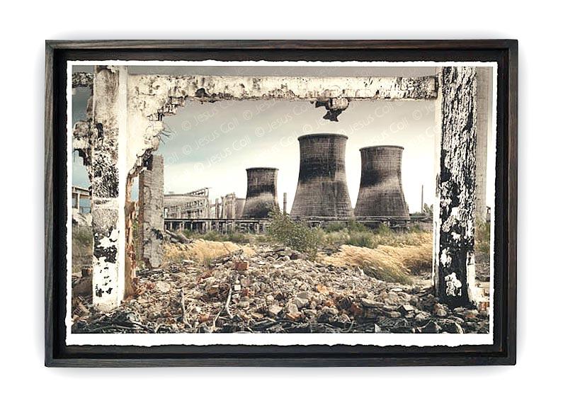 """Fòssils A"" Photographic triptych work on Fine Art Giclée by Jesús Coll"