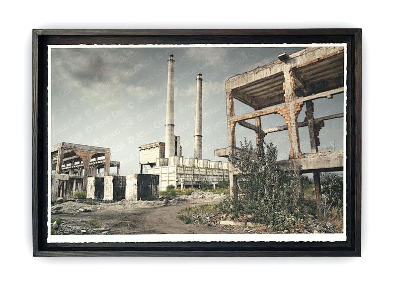 """Fòssils C"" Photographic triptych work on Fine Art Giclée by Jesús Coll"