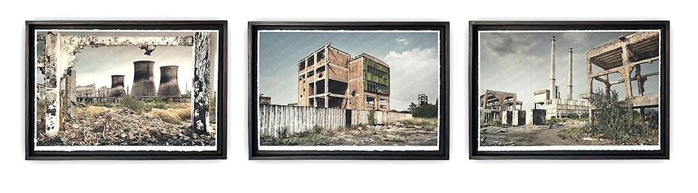 """""""Fòssils"""" Tríptico fotográfico Fine Art Giclée de Jesús Coll"""