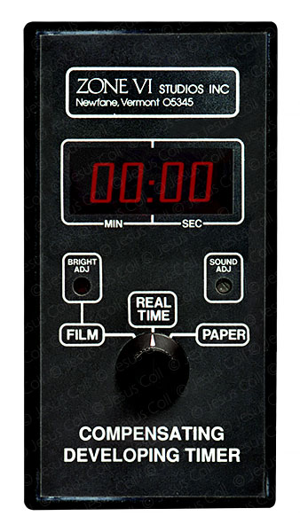 Analog Photographic Darkroom.  Compensating developing timer,  Zone VI Studios inc. © Jesus Coll
