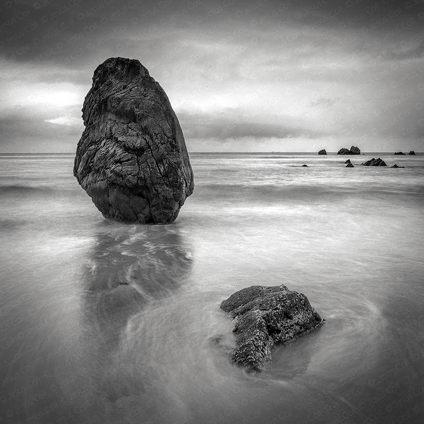 Balance. Playa de Aguilar, Asturias, España
