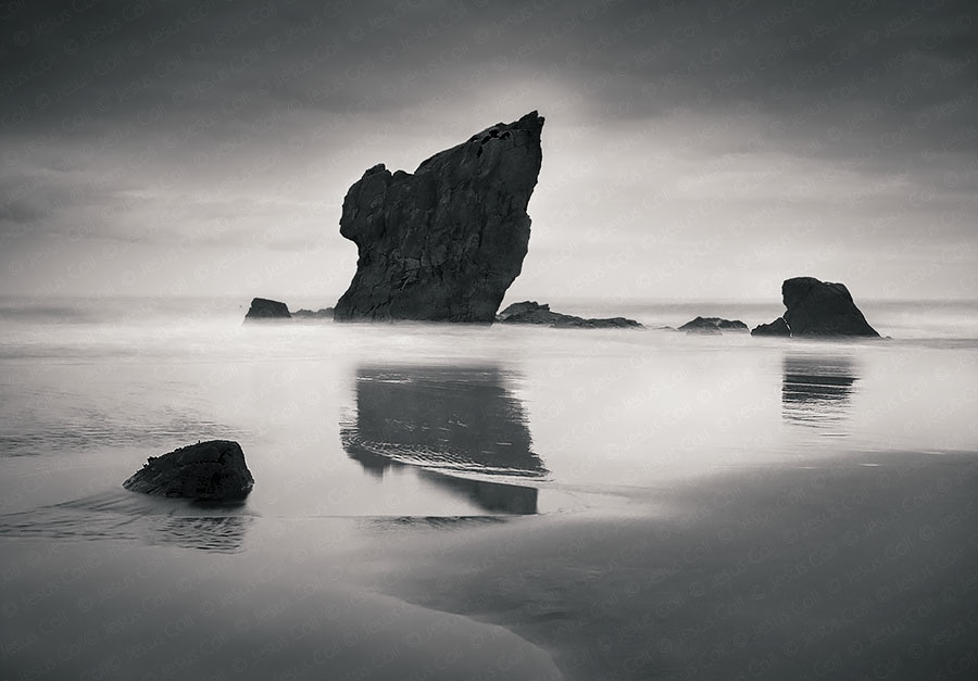 Reflejos, Playa de Aguilar, Asturias, Spain, Fine Art Landscape Photography © Jesus Coll