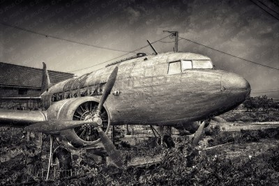 A Plane in My Yard, Near Brasov, Romania © Jesús Coll