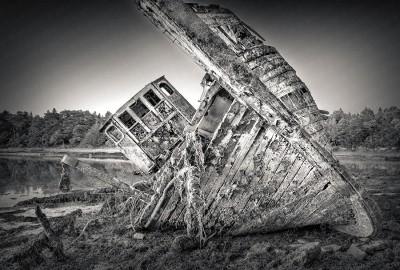 Ship Wreck. Bénodet, Bretagne, France