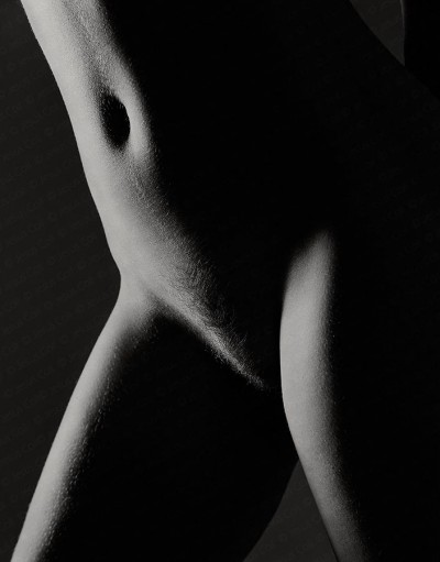 Torso on backlight