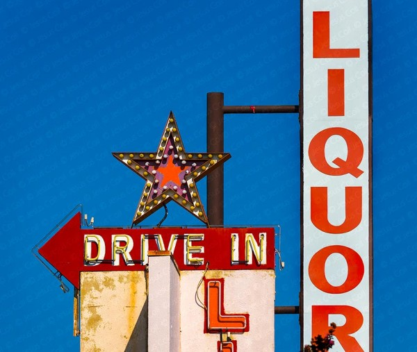 Liquor Sign, Los Angeles, California