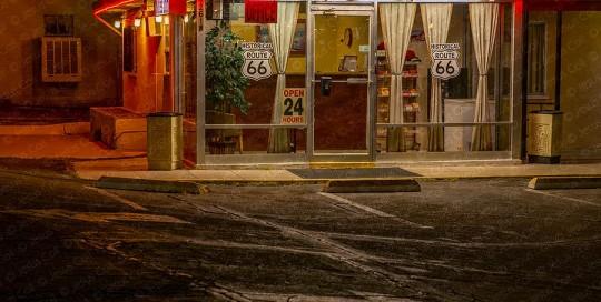 Motel Lobby, Barstow, California