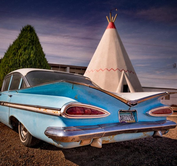 Vintage Car, Wigwam Motel, Holbrook, Arizona, Route-66